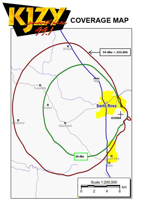 KJZY Coverage Map